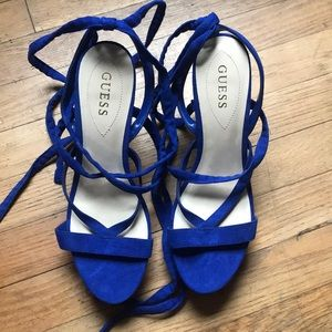 Guess Tie Up Wedges